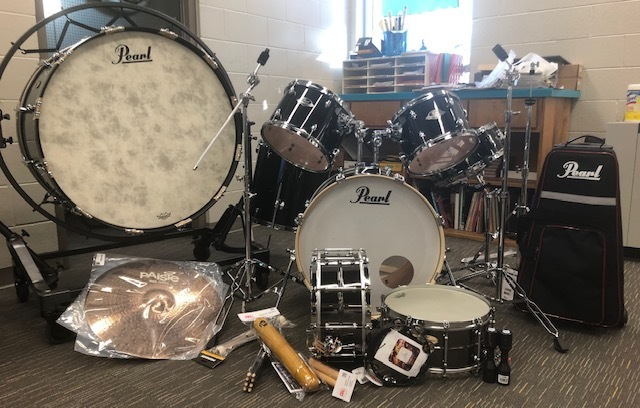 NCATE grant funds new instruments for school band