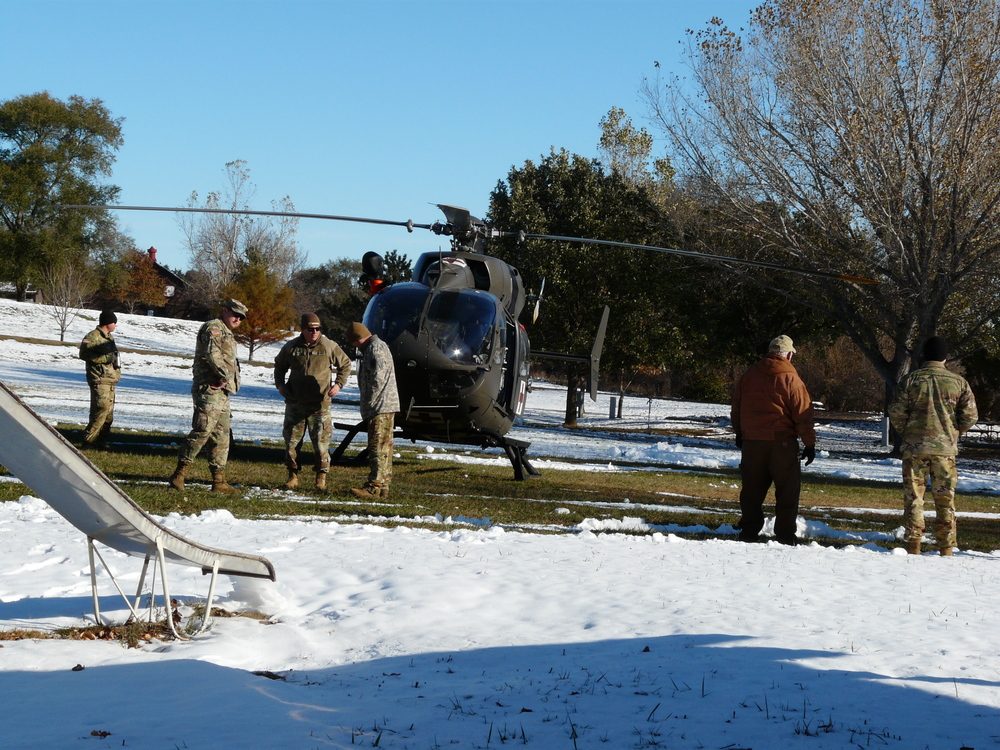 National Guard brings helicopter to state park