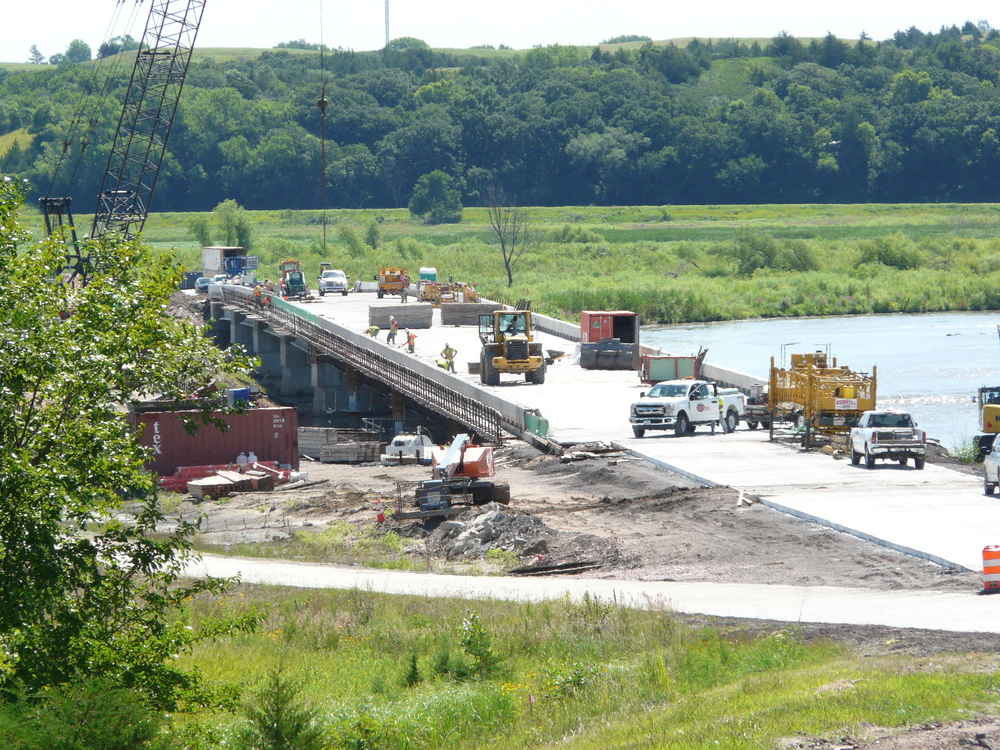 Mormon Canal Bridge is nearing completion