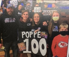 Poppe hits 100 wins...