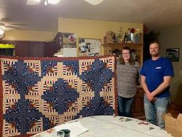 "Teadtke receives ""Quilt of Valor"""