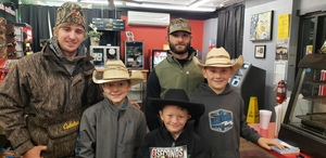 Pro-rodeo bull riders visit