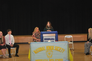 Alison (Sage) Shelangouski was speaker at NHS National Honor Society Induction