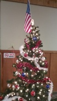 Patriotic Christmas tree in the mall