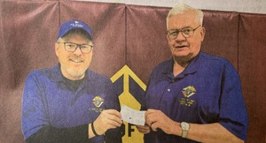 Knights give to elevator project...