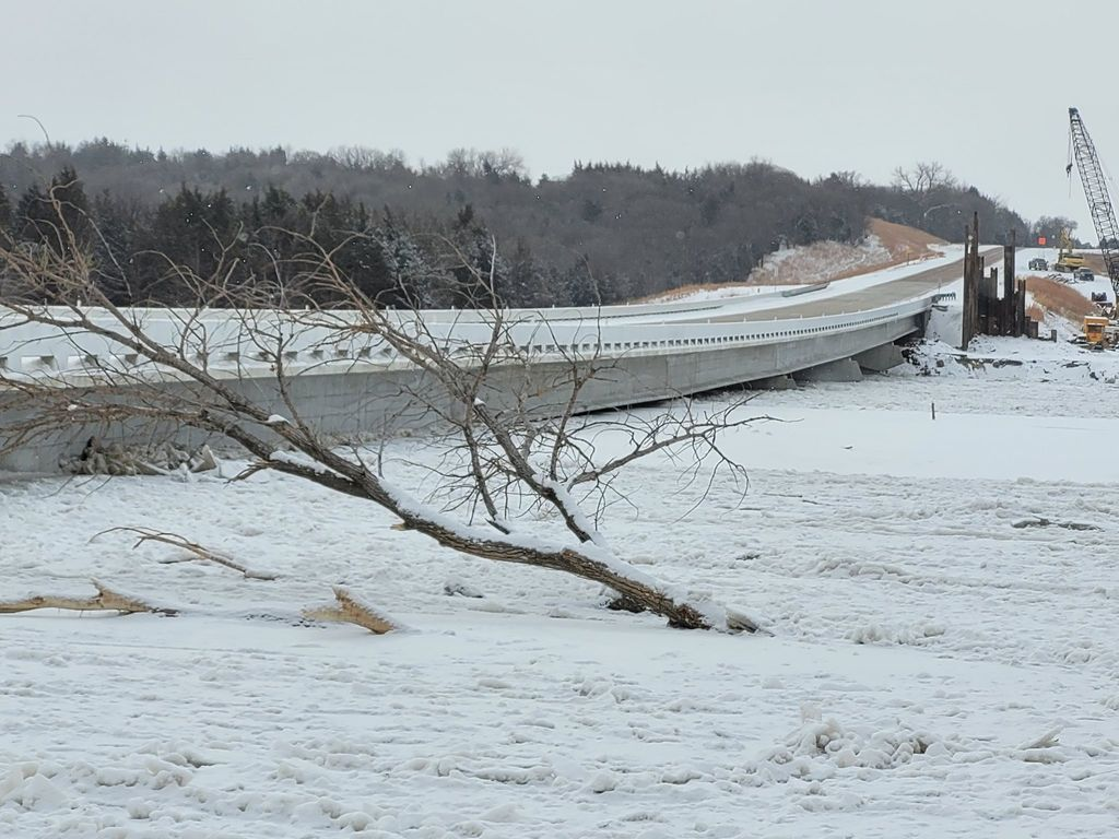 Ice is right underneath new Spencer Dam