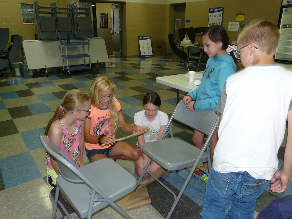 Summer Camp students took part in a bridge building exercise.