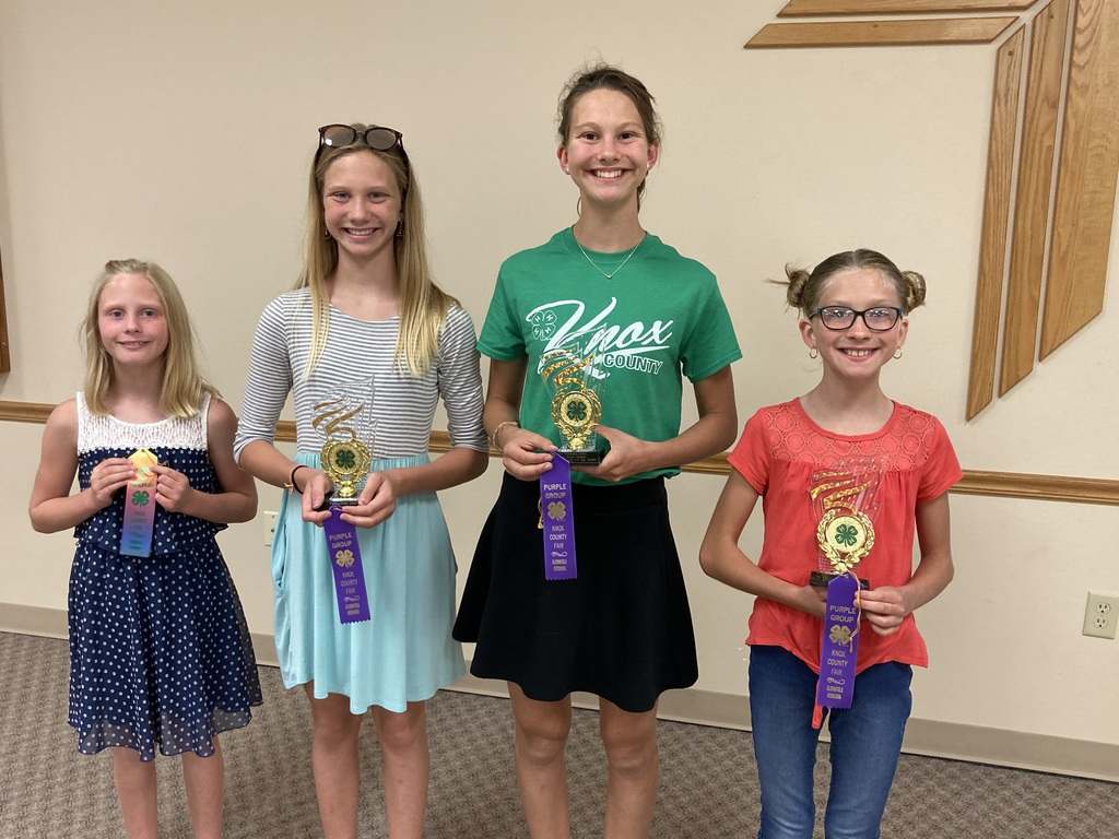 Knox County 4-H Presentation Contest Winners