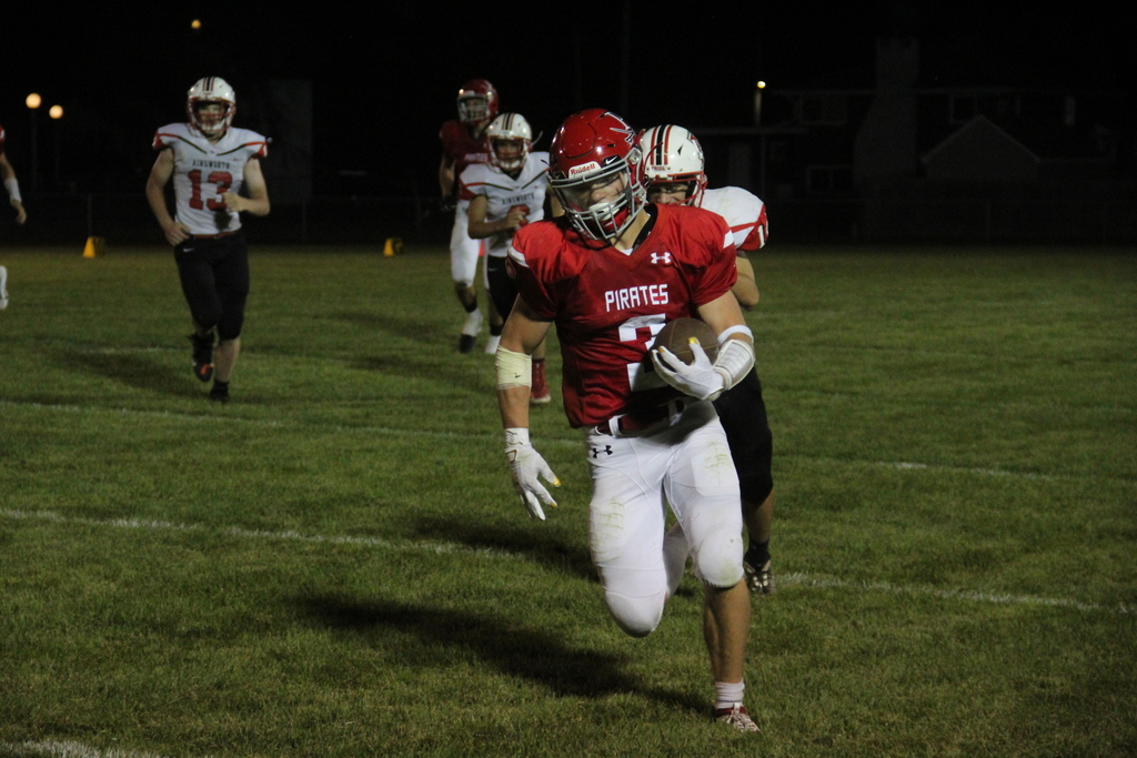 Matt Christensen makes a line for the end zone against Ainsworth